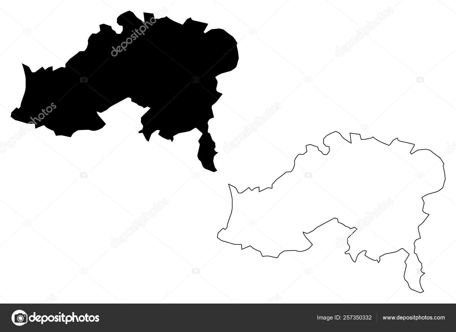 Batna Province map vecto — Stock Vector © Danler #257350332