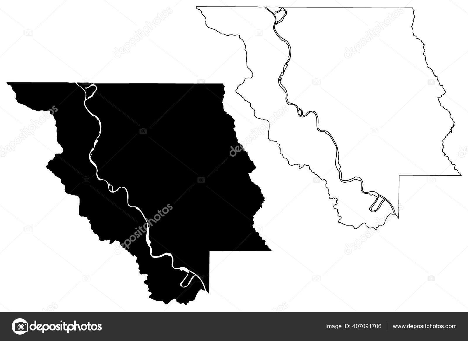 Red River County Louisiana County United States America Usa Map Stok Vektor C Danler 407091706