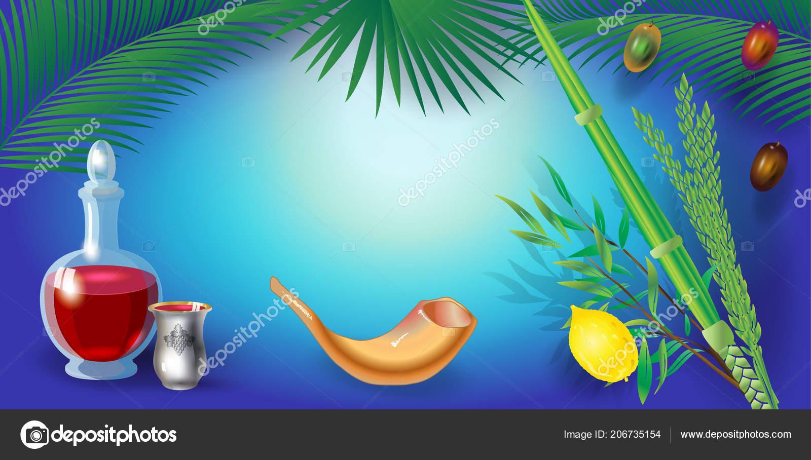 Happy sukkot festival greeting card frame lulav etrog shofar palm happy sukkot festival greeting card frame with lulav etrog shofar palm tree leaves frame trendy design jewish holiday rosh hashana shana tova sukkot m4hsunfo