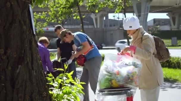 punto di ricezione mobile di riciclaggio dei rifiuti. movimento ambientale Razdelniy sbor