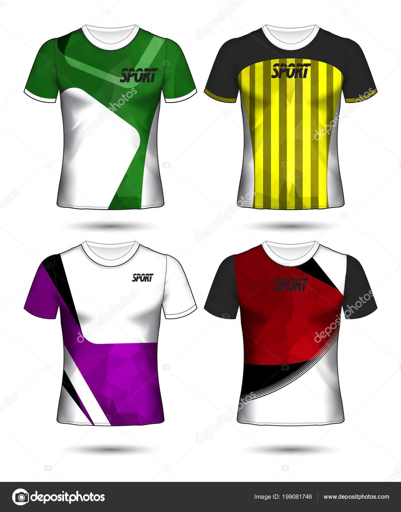サッカーまたはフットボール ジャージー テンプレート シャツ スタイル
