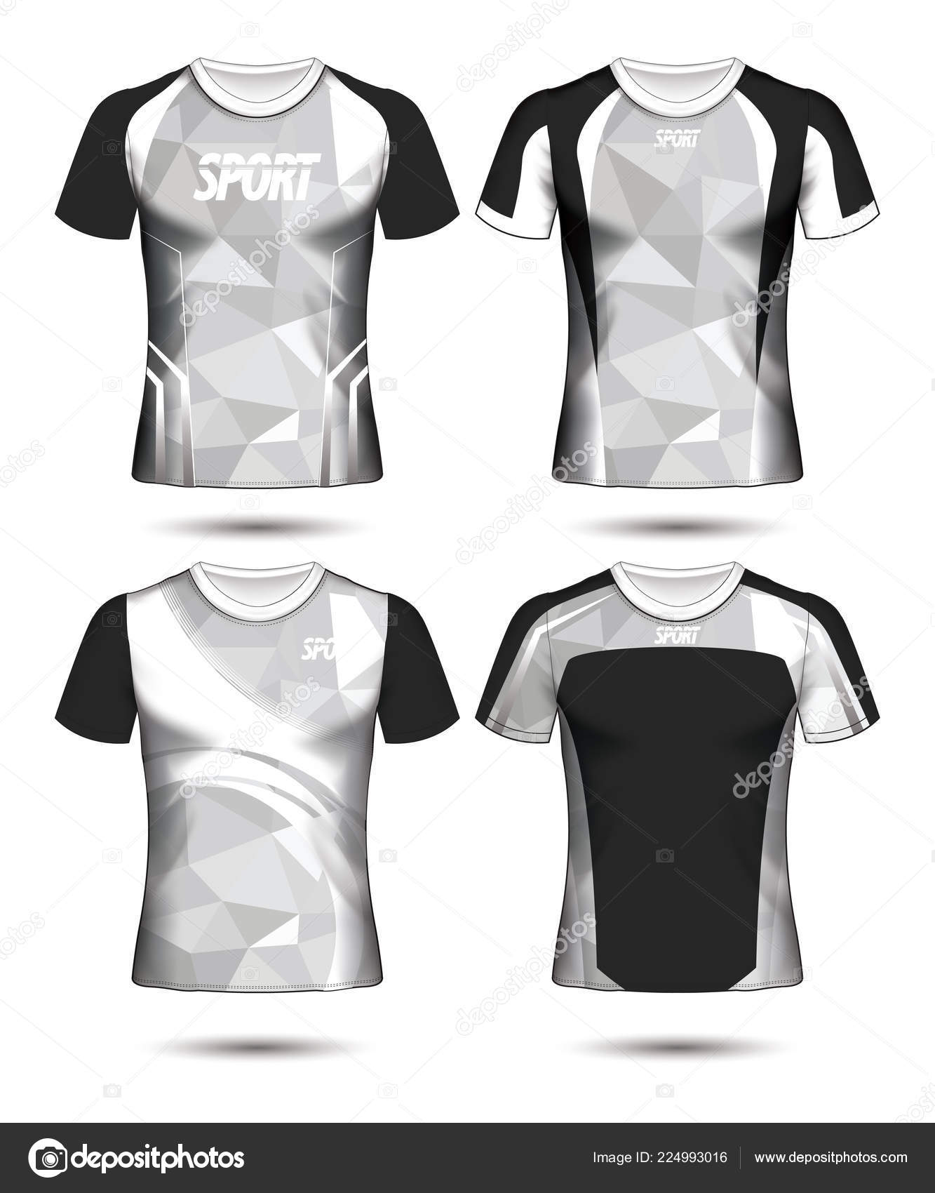 c3ea33186 Set of Soccer sport t-shirt layout design poly template and polo shirt  vector illustration — Vector by prathumphon2512.gmail.com| ...