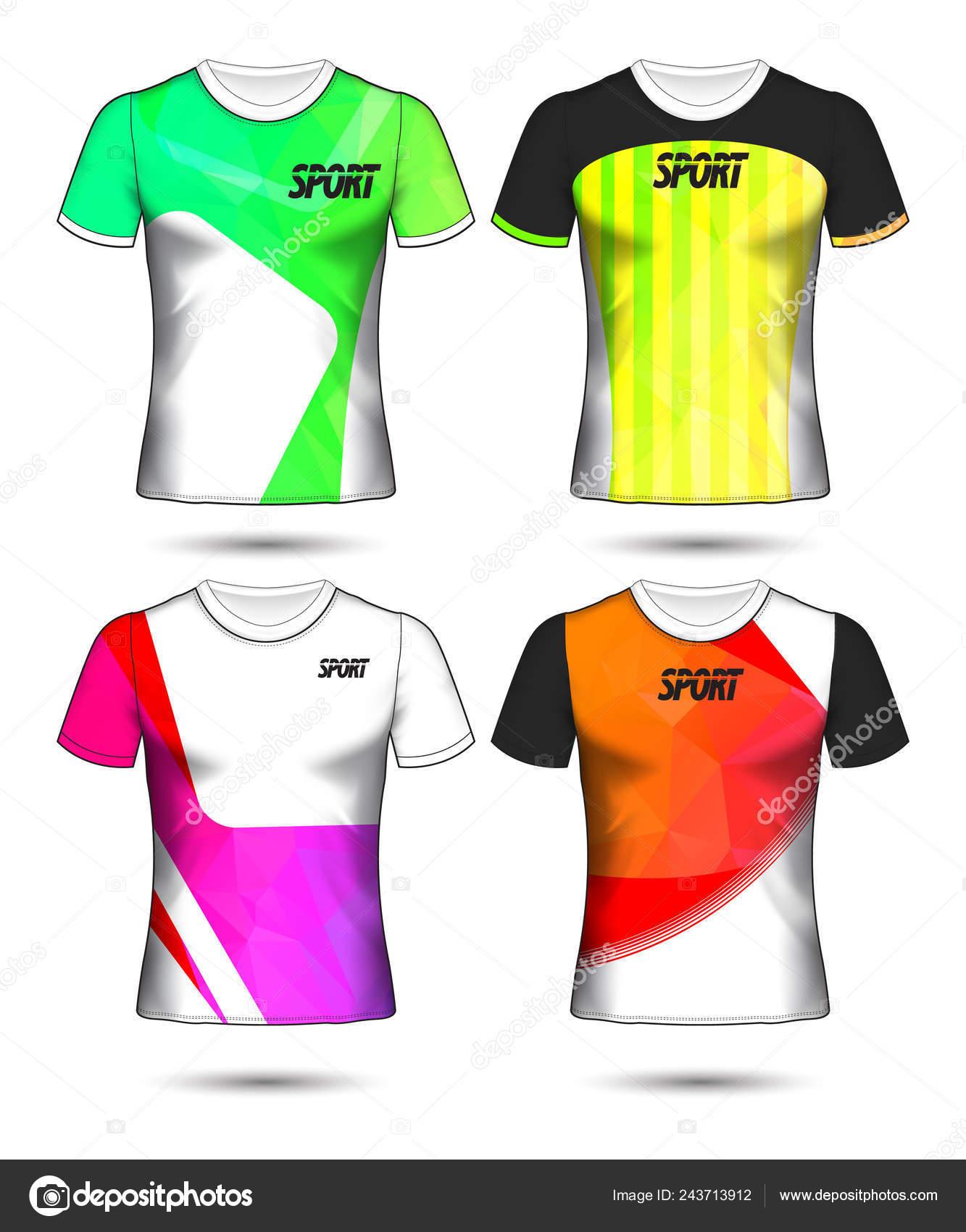 Set Soccer Football Jersey Template Shirt Style Design Your Football Stock Vector C Prathumphon2512 Gmail Com 243713912