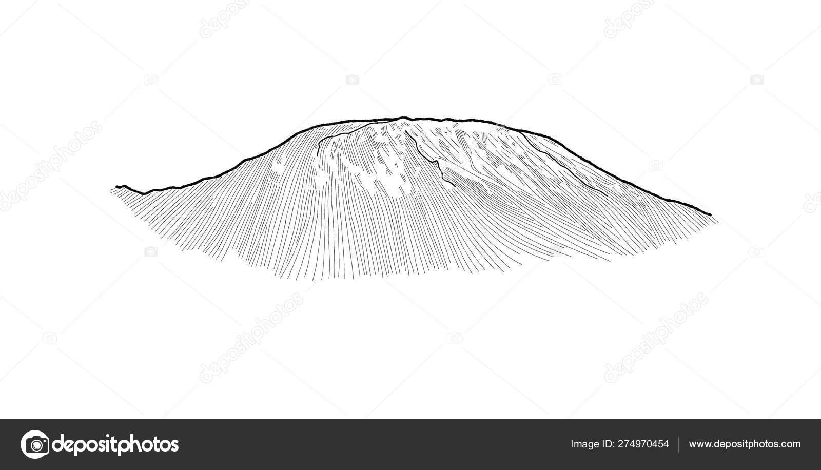 Kilimanjaro North East Tanzania Africa Landmark Vector Illustration