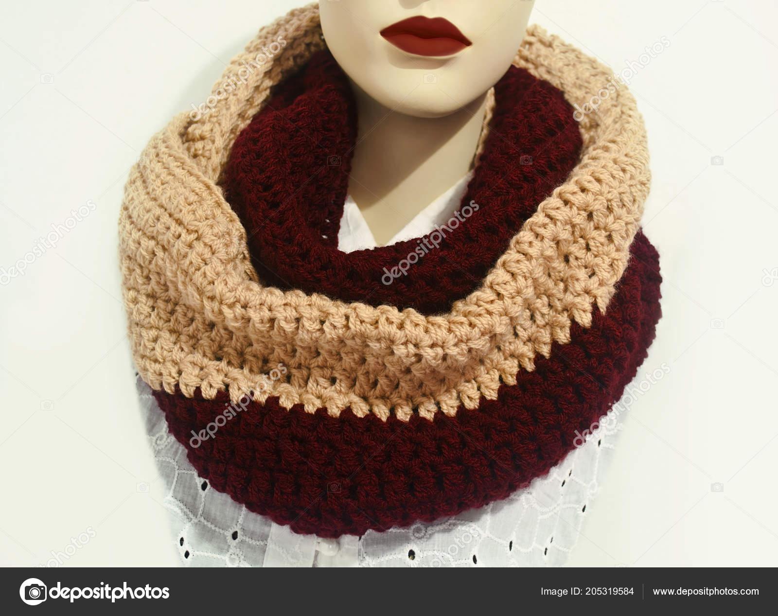 кукла носить шарф вязание крючком бесконечности шарф шерсти шарф