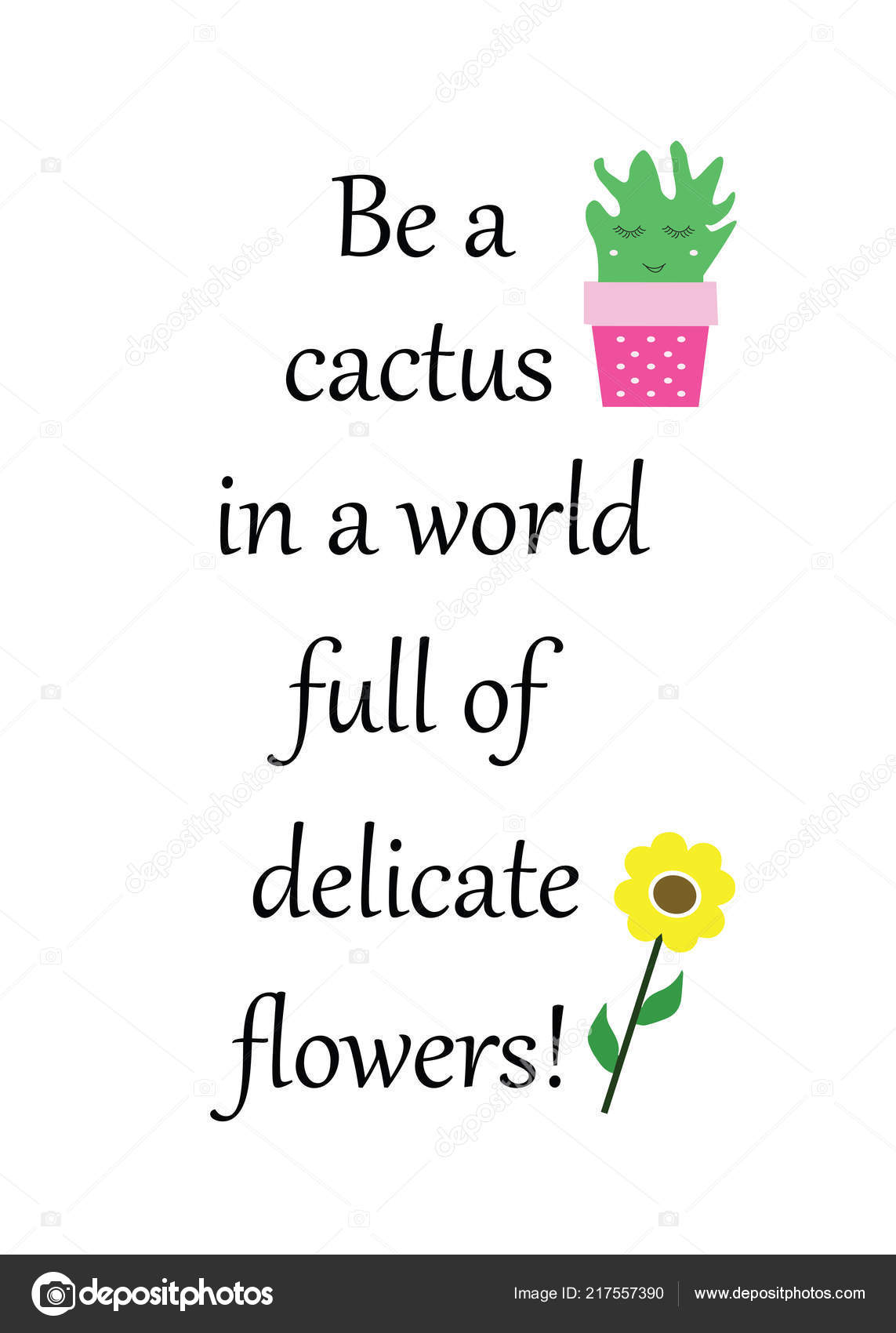 quotes about cactus cactus world full delicate flowers poster