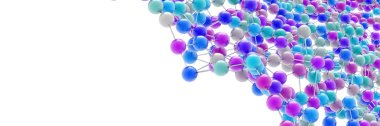 3d atoms background, science and chemistry concepts