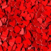 Fotografie unendliche Herzen Hintergrund: Liebe, Leidenschaft und Valentinstag Thema. 3D-Rendering, quadratische Bannergröße