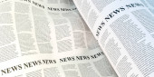 Abstract newspaper background, original 3d rendering