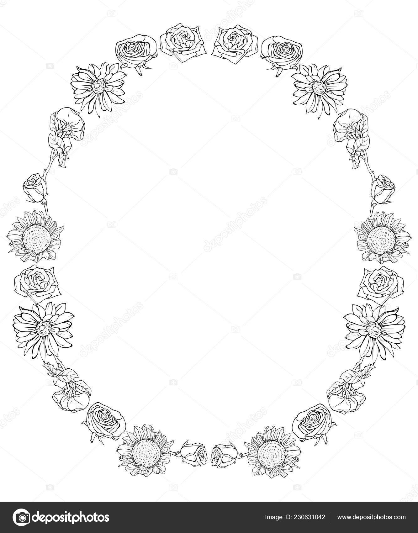 Una Linda Corona Imagen Flores Para Relajarse Libro Para