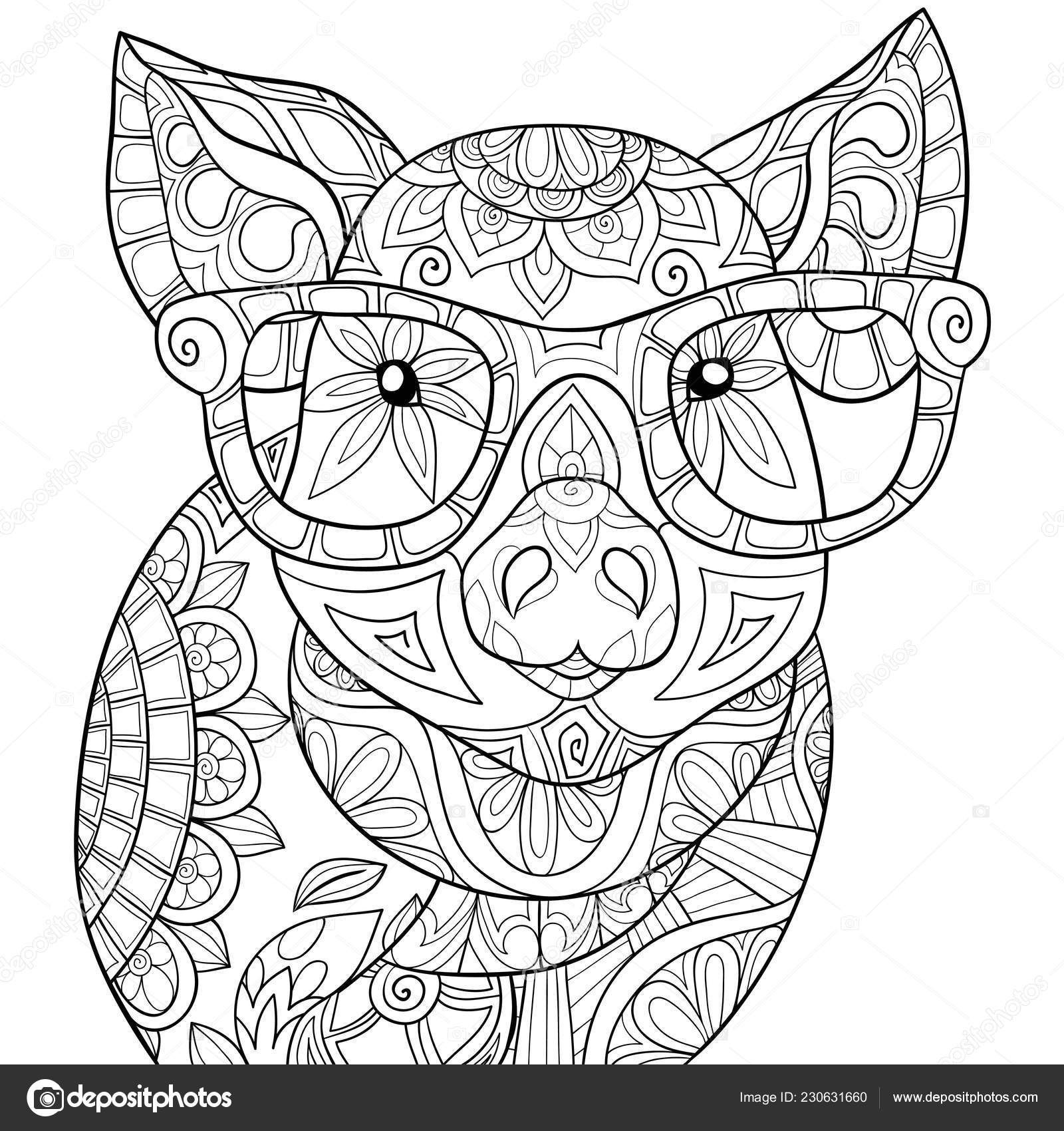 Images: pig with glasses | Cute Pig Wearing Glasses Image ...