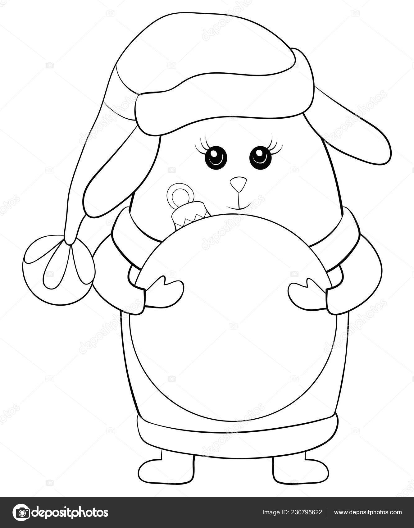 мультфильм кролик рождество кепке жилет перчатки ботинки