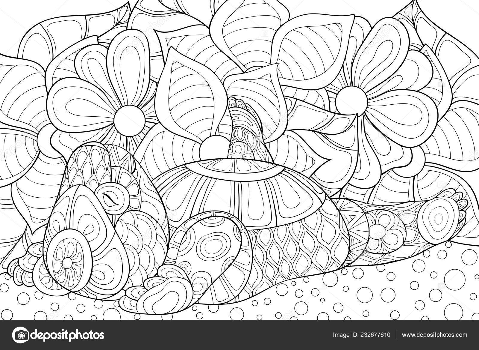 depositphotos stock illustration cute little bear floral abstract