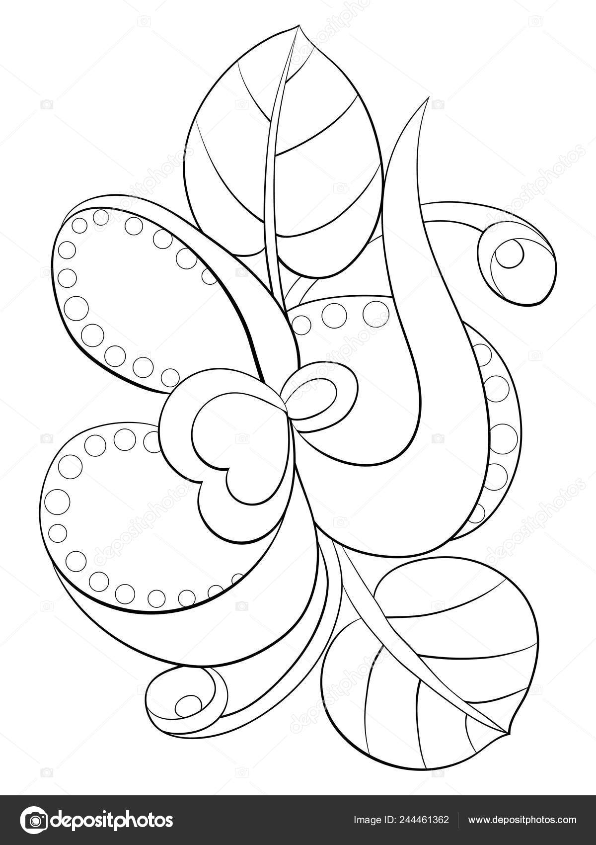 Abstract Flower Petals Leaves Image Relaxing Activity