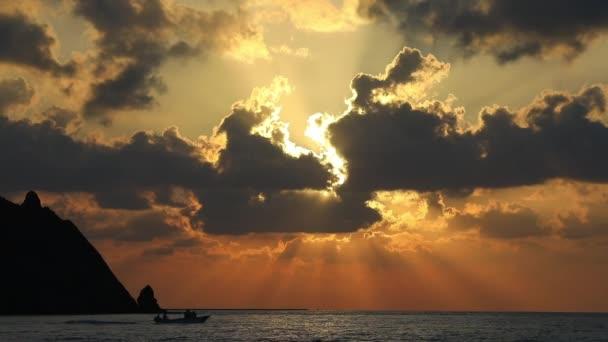 Wonderful sunset. on the Turkish beach.