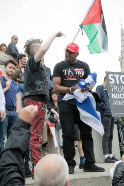 Anti Donald Trump Protesters in Central London