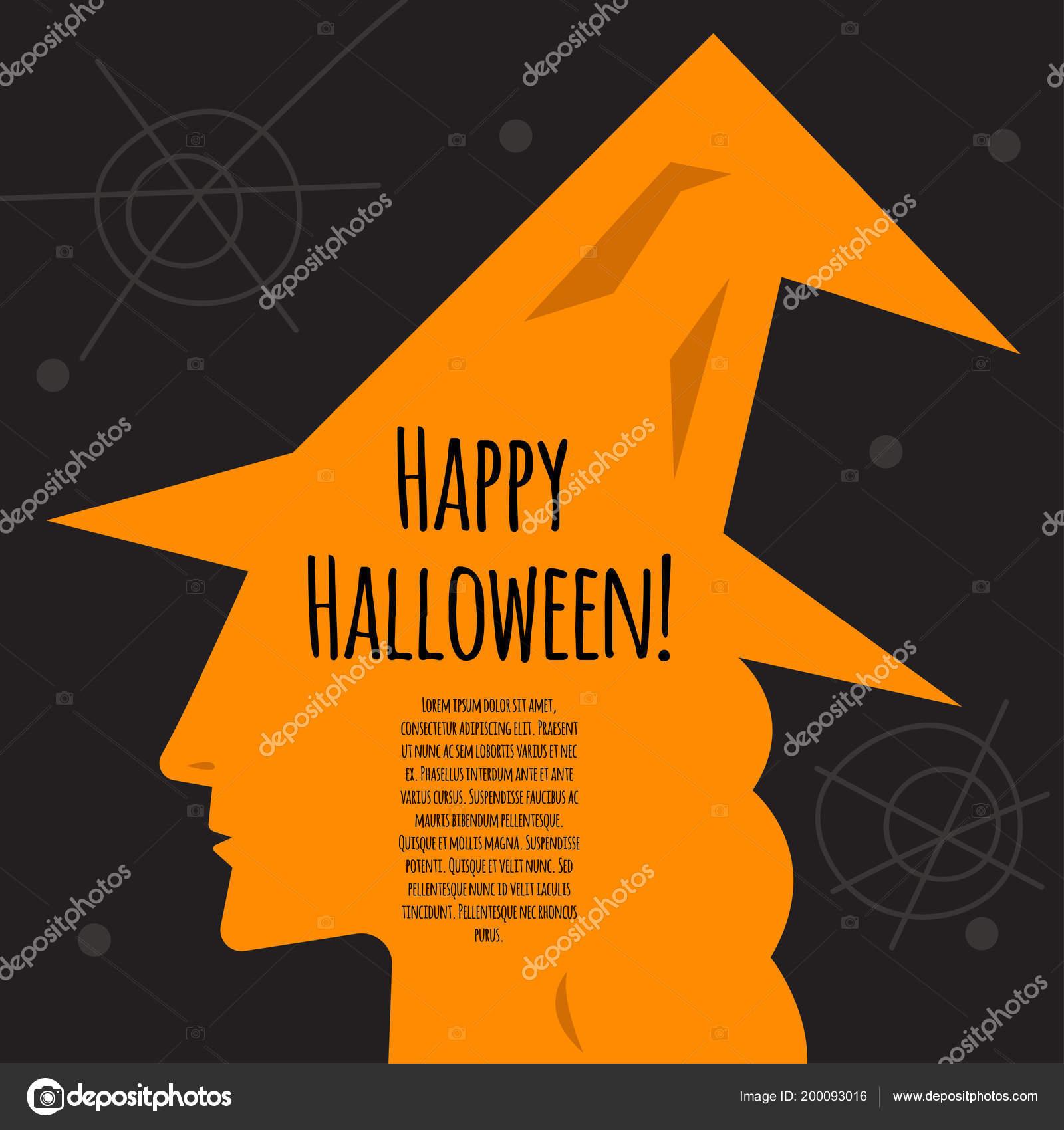 halloween invitation profile of witch stock vector tomozina1