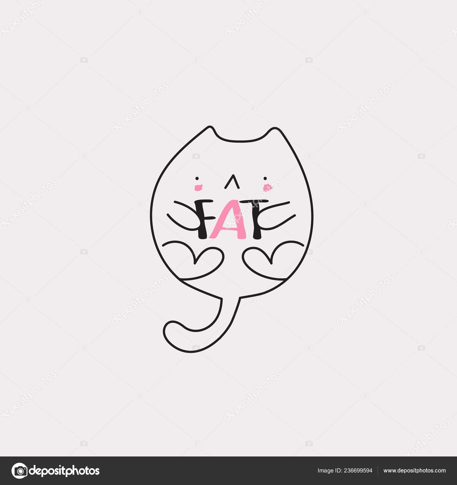 obézní černá kočička
