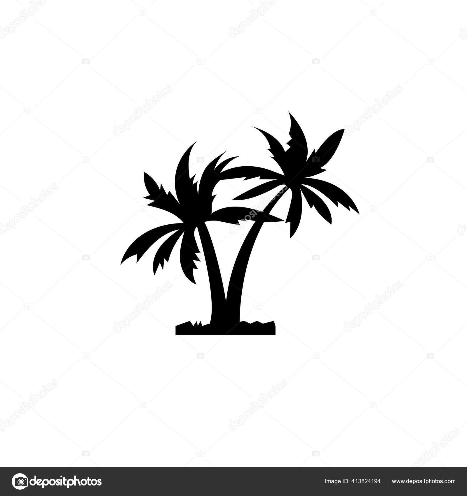 Dua Buah Ikon Hitam Pohon Kelapa Simbol Untuk Agen Perjalanan Stok Vektor C Tomozina1 Yandex Ru 413824194