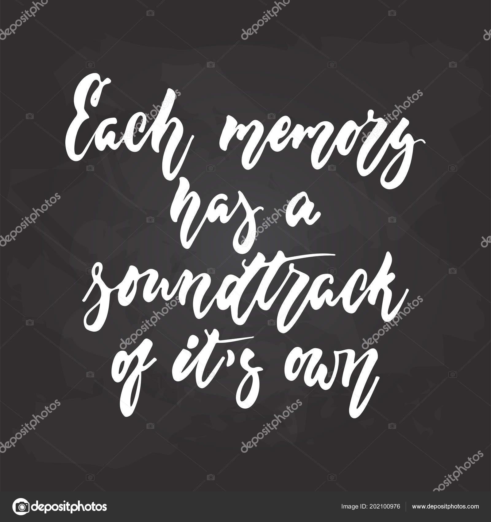 Cada Memória Tem Uma Trilha Sonora De Seu Próprios Mão