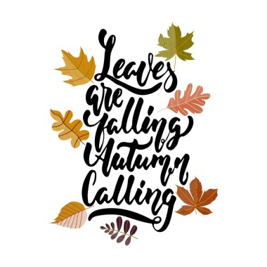 Leaves Falling Autumn Is Calling Premium Vector Download For Commercial Use Format Eps Cdr Ai Svg Vector Illustration Graphic Art Design