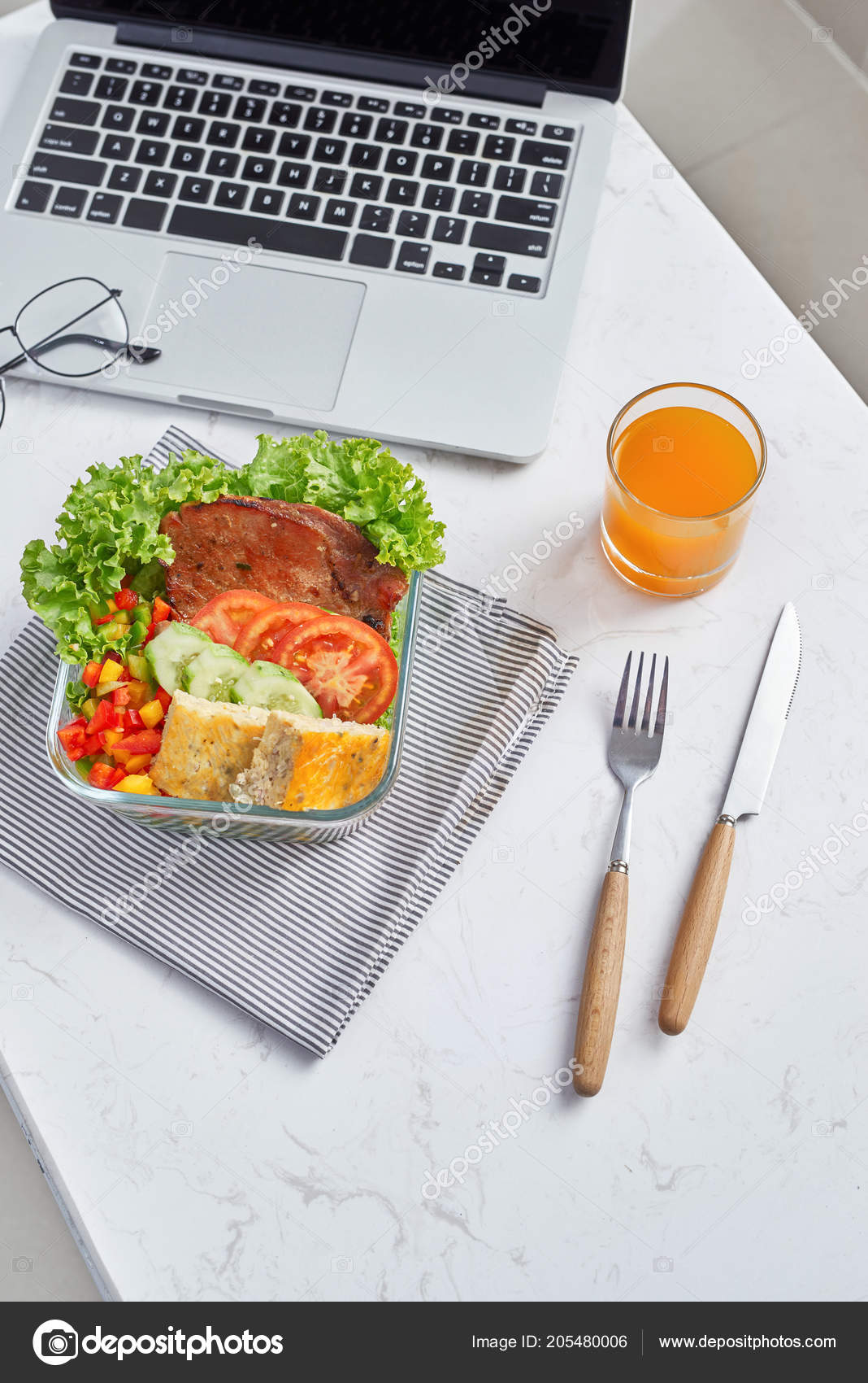 healthy eating lunch work food office stock photo makidotvn