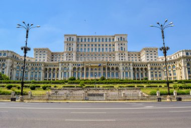 Palace of Parliament known as the People House or Republic House. Bucharest, Romania.