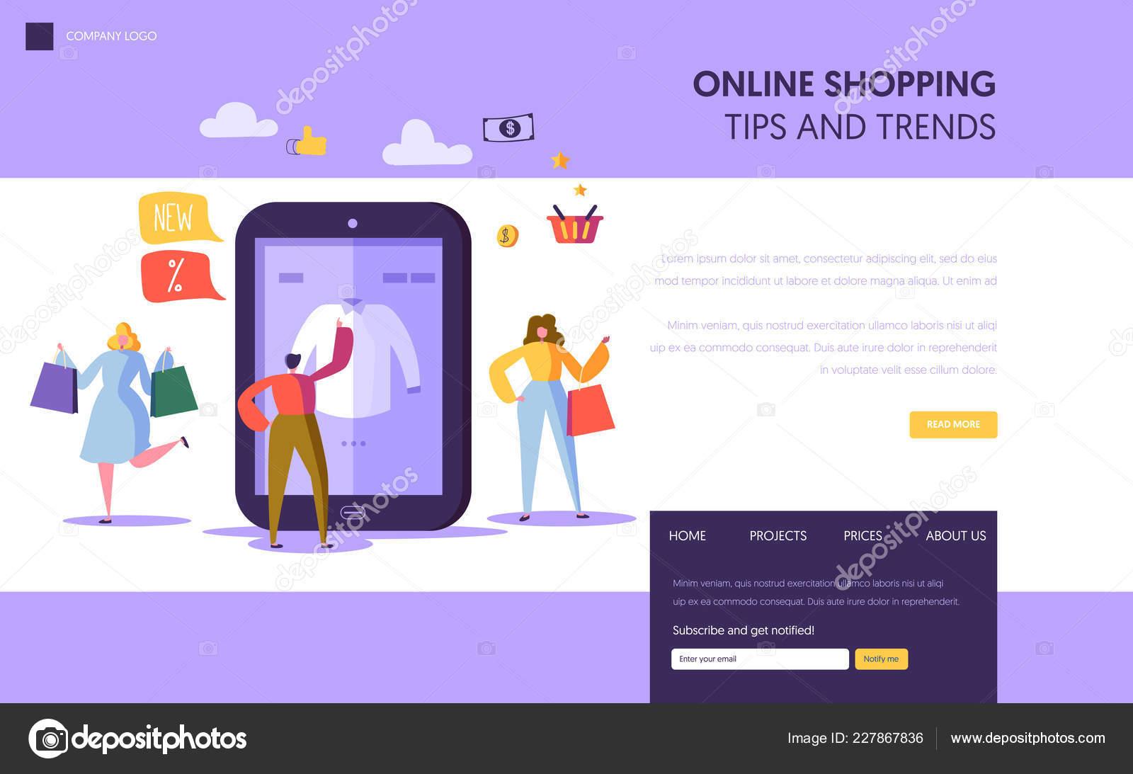 Nakupování online Úvodní stránka šablony. Znaky bc84ab08c4