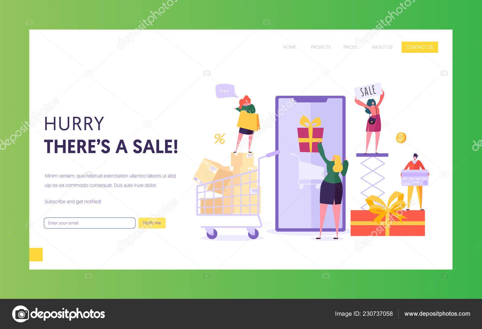 9da6b4f5b Modelo de site de venda de loja de comércio eletrônico. Mulher loja ...
