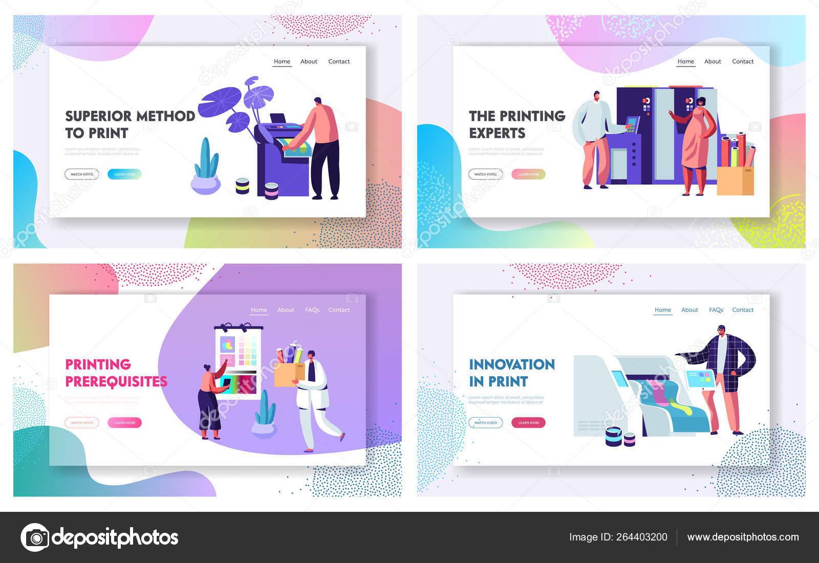 Printing House Advertising Agency Website Landing Page