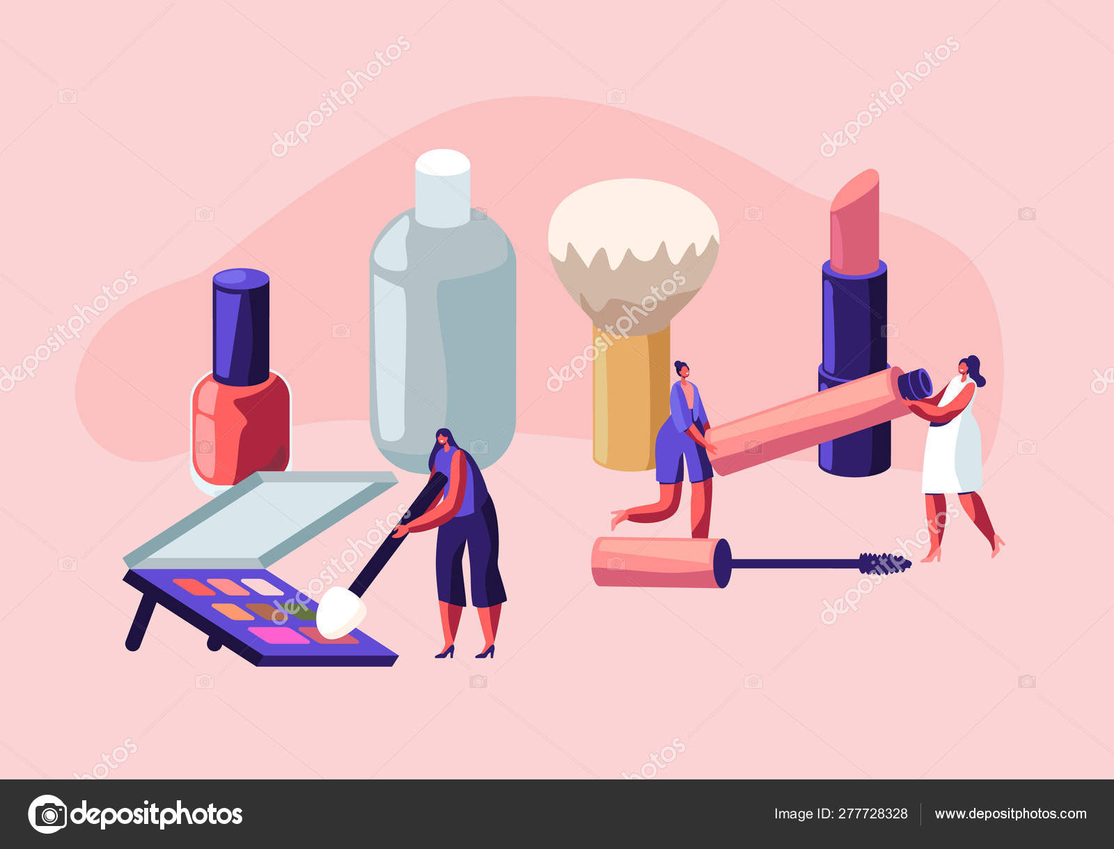Women Spend Time In Beautician Parlor Female Characters Testing Skin Care Products In Beauty Salon Makeup Courses Make Up School Cosmetics Masterclass Face Care Cartoon Flat Vector Illustration Stock Vector C