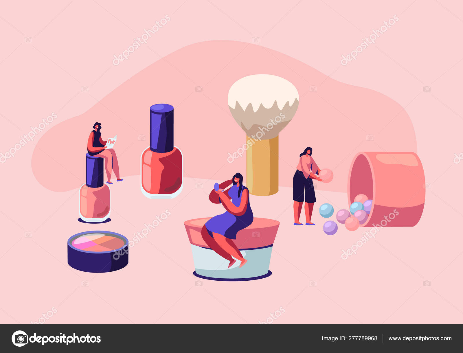 Cosmetics Masterclass Face Care And Beauty Women In Beautician Parlor Female Characters Testing Skin Care Products In Salon Makeup Courses Make Up School Cartoon Flat Vector Illustration Stock Vector C Vectorlab 277789968