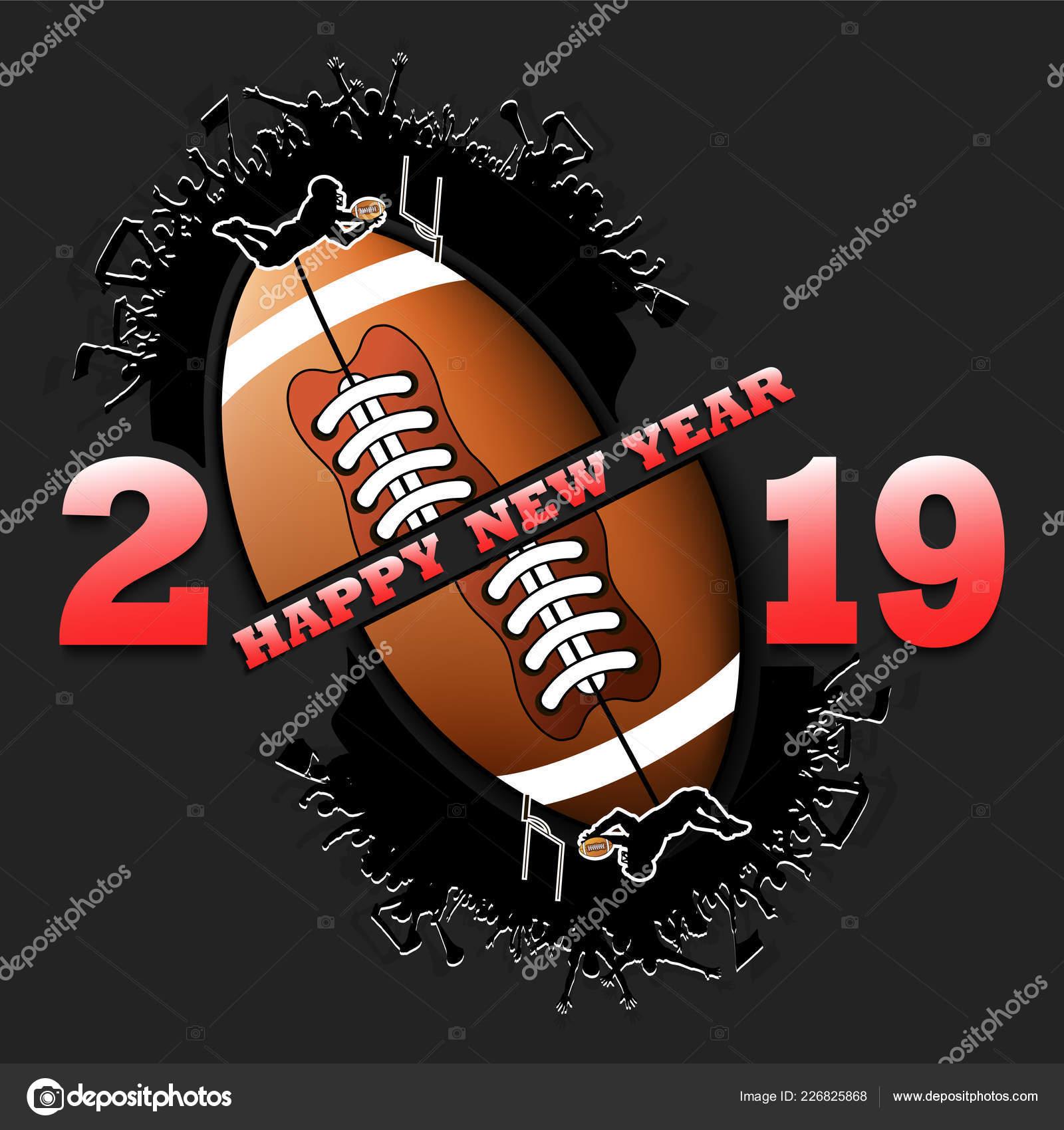 Happy New Year 2019 And Football Ball Stock Vector C Mityay Pg