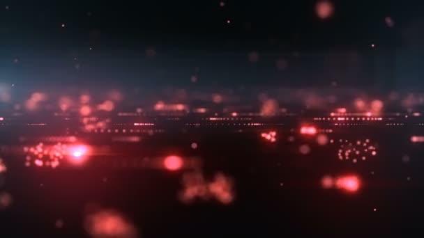 Abstraktní pozadí s animací pádu třpytivých částic jako slavnostní déšť. 4k Ultra Hd rozlišení