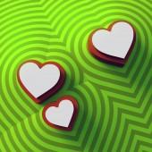 Fotografie Abstrakte farbige Herzen Hintergrund. Bunte Zeichen Muster. 3D-Rendering. Digitale illustration