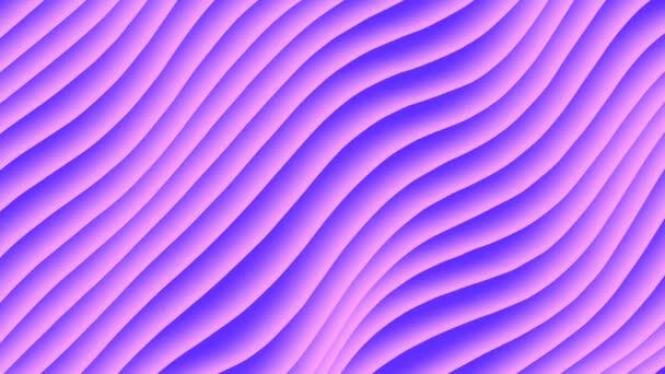 Barevné vlny cyklus přechodu animace. Budoucí geometrické diagonální čáry vzory pohybu pozadí. 3D vykreslování. 4k Uhd
