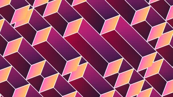Diagonal pattern of moving cubes seamless loop animation 3d render HD resolution