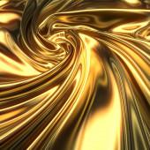 Abstract gold cloth wave concept background. Decorative elegant luxury design. 3d rendering digital illustration