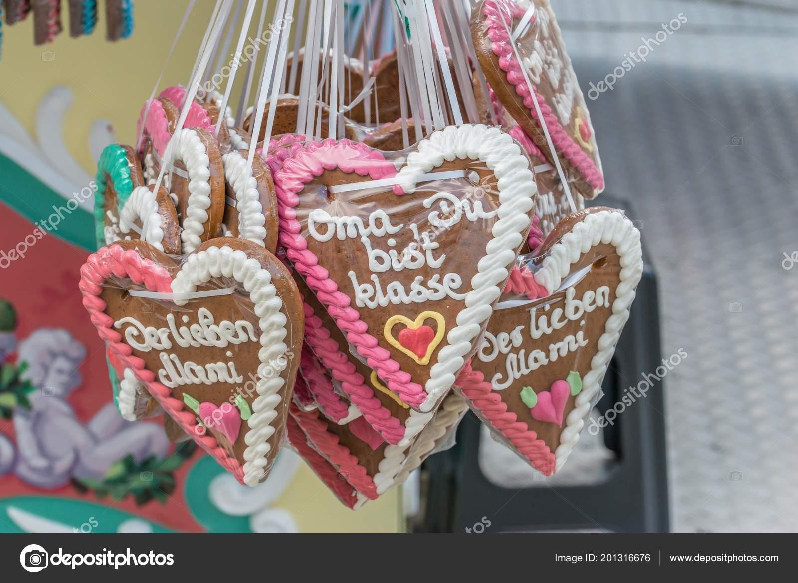 Gingerbread Hearts Folk Festival German Words Grandma You Great
