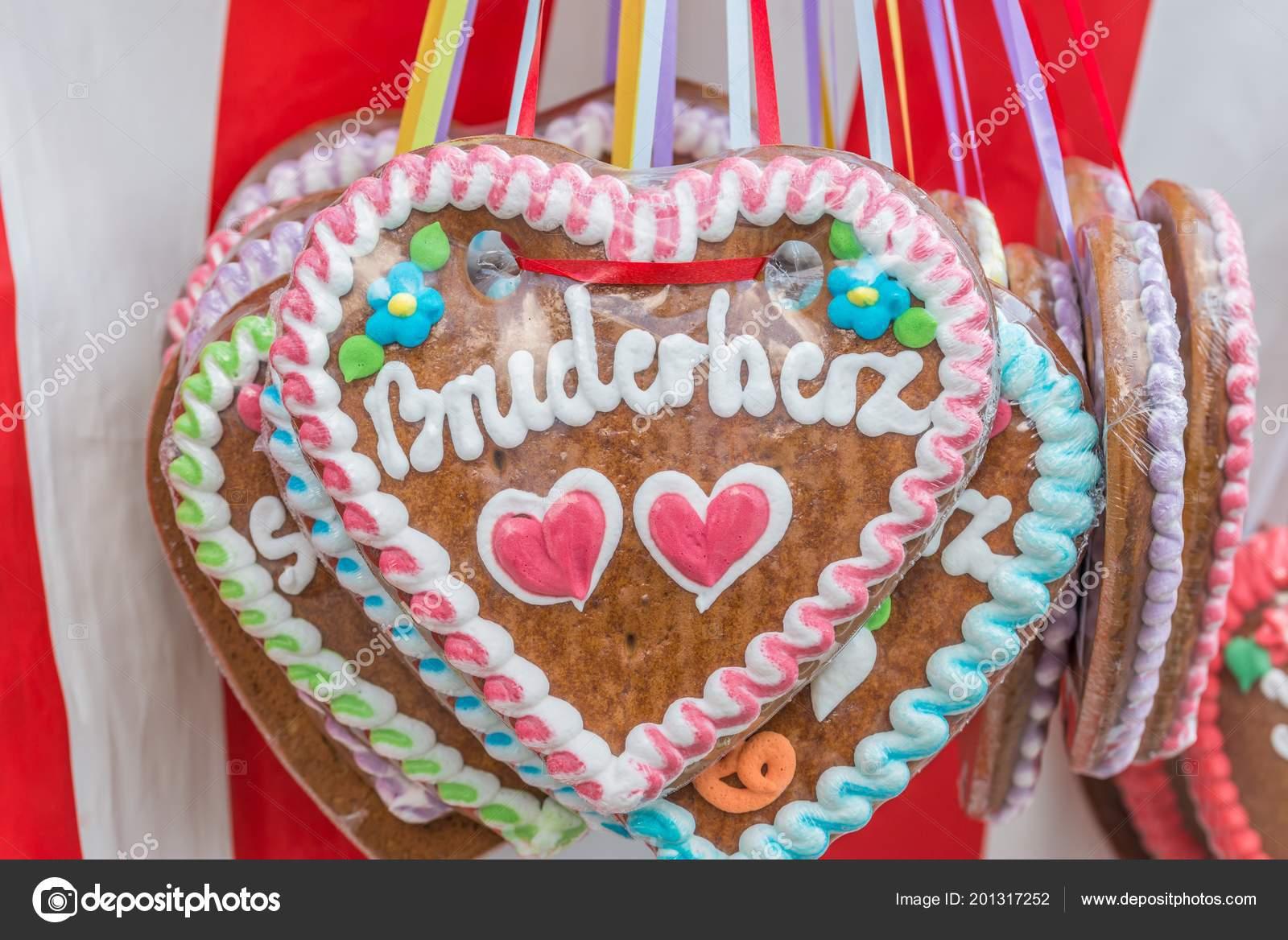 Gingerbread Hearts Folk Festival German Words Brother Heart Germany