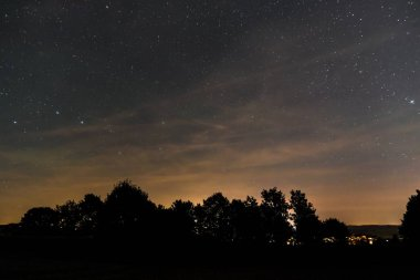 Zodiac sign of big dipper in summer on the night of the Perseids Bavaria, Germany