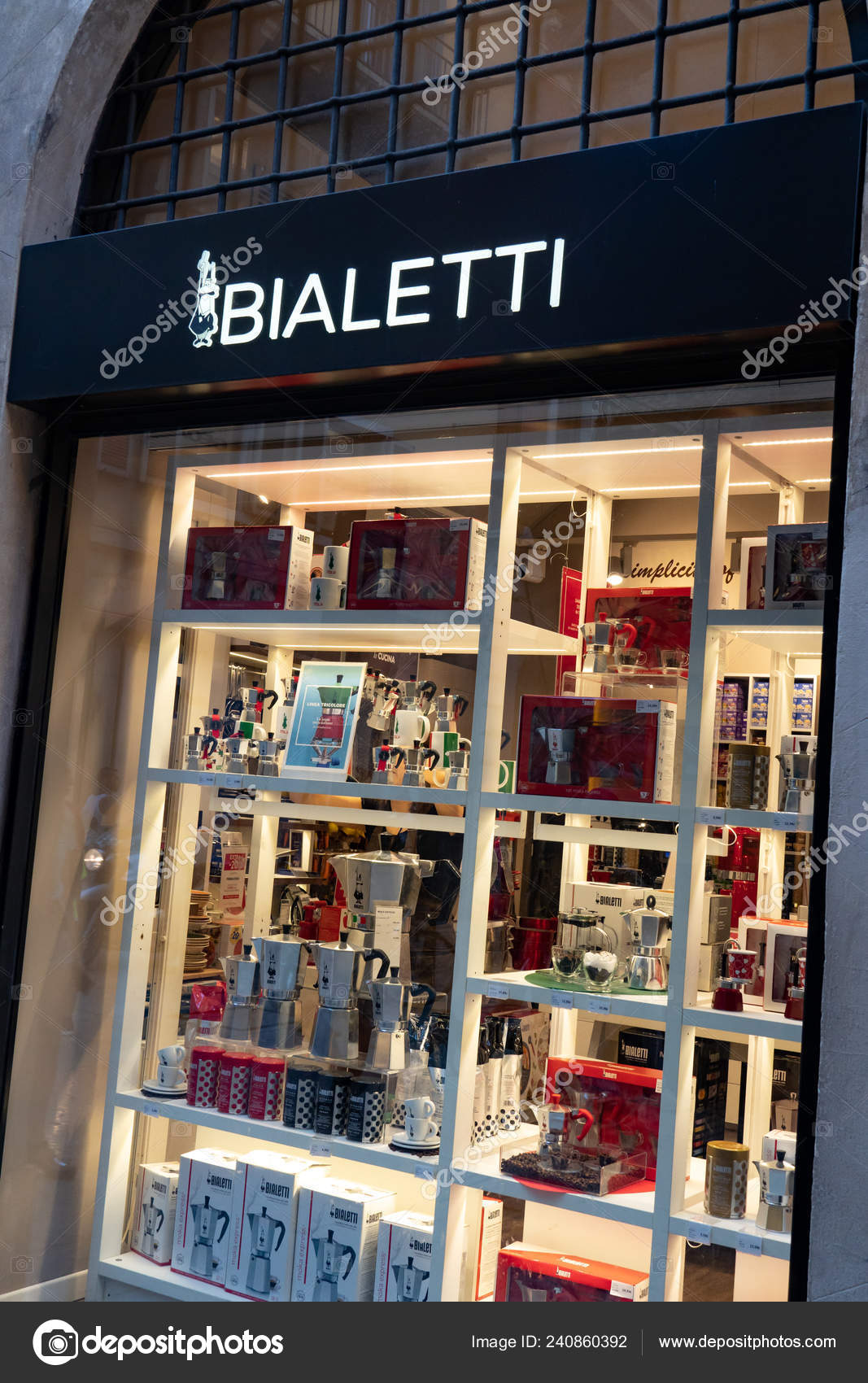 d4d55ffc18ca Verona, Italy - September 5, 2018: Bialetti store. Founded in Italy in  1919, the company provides the most famous moka pot, a stove-top or  electric coffee ...