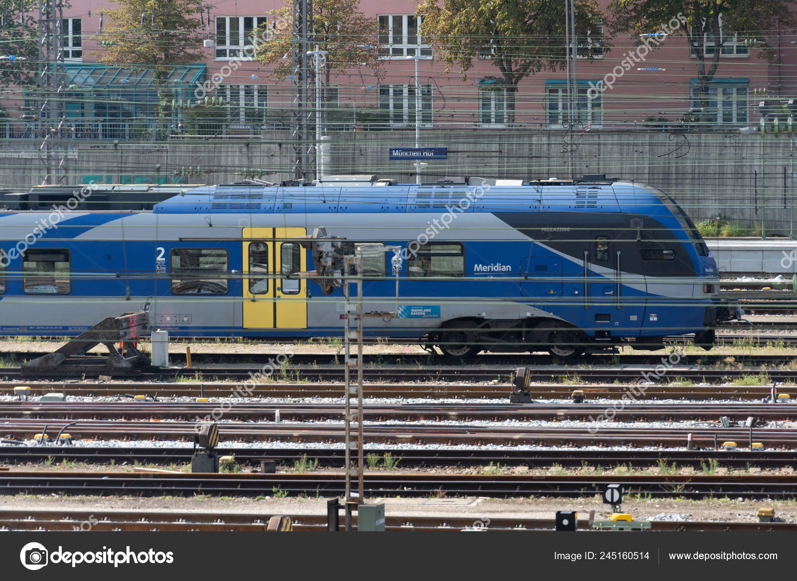 Munich Germany August 2018 Meridian Train Meridian Brand