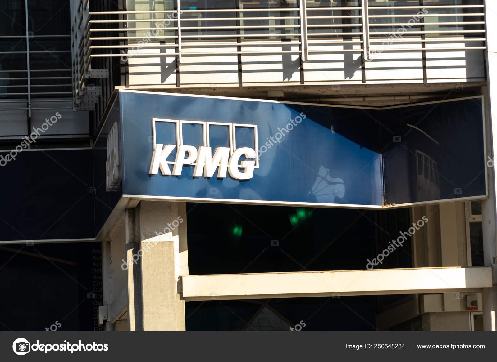 Rome Italy July 2018 Signage Dutch Company Kpmg Professional