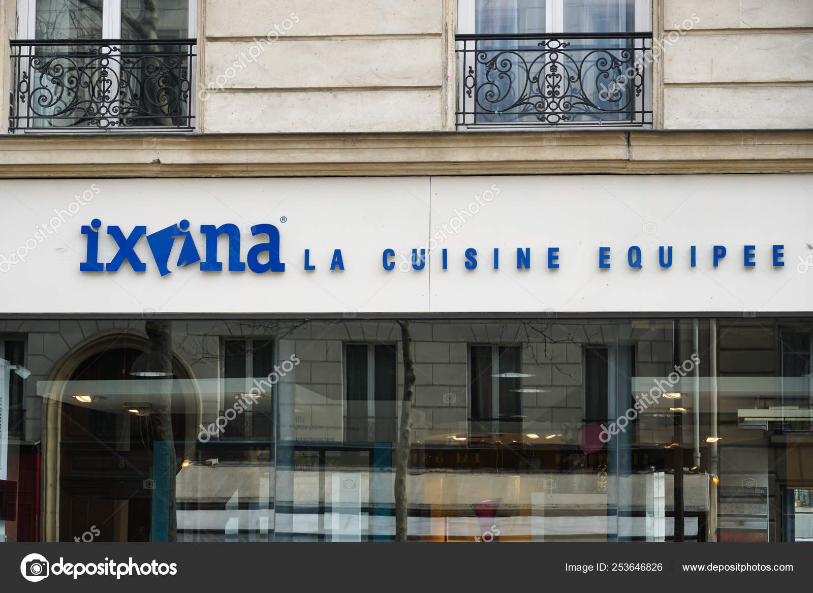 Paris France March 2019 Ixina Kitchen Consultant Store Stock