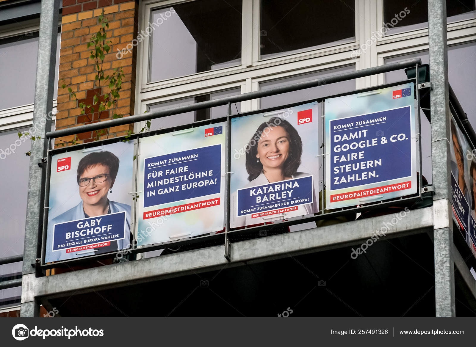 Berlin Germany April 2019 Election Campaign Posters German Political