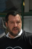 Rome, Italy - July 17, 2019: Matteo Salvini, Deputy Prime Minister of Italy and Minister of the Interior since June 2018. He has also been Federal Secretary of the Northern League since December 2013