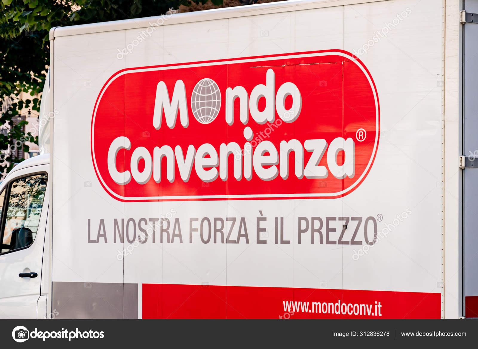 Ikea O Mondo Convenienza rome italy september 2019 mondo convenienza logo delivery