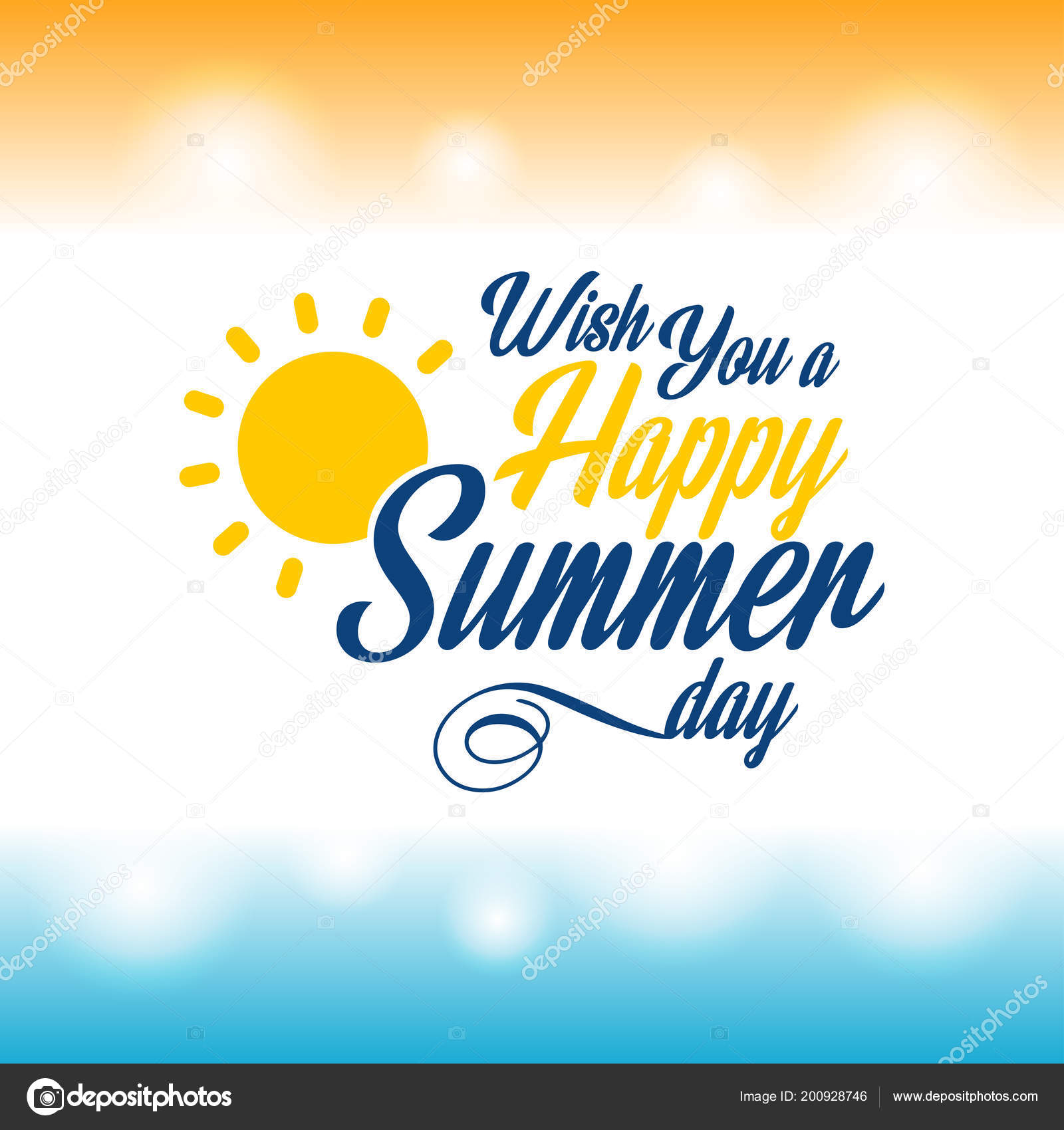 Happy summer greetings card light background vector illustration happy summer greetings card light background vector illustration m4hsunfo