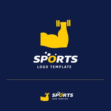 vector illustration of Business card design with sports logo and theme